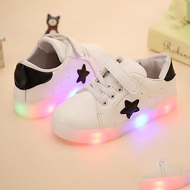 voordelige Babyschoenentjes-Jongens Oplichtende schoenen PU Sneakers Peuter (9m-4ys) / Little Kids (4-7ys) LED Wit / Zwart / Groen Lente / Rubber