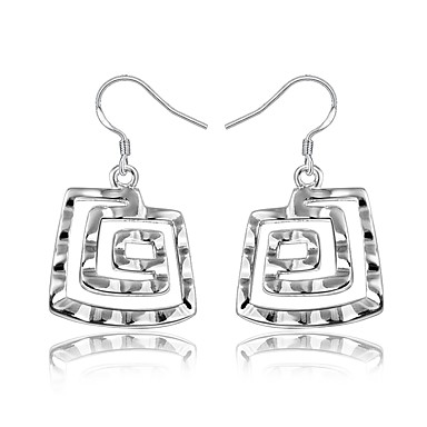 5964539b26fa3c Women's Geometrical Earrings Silver Plated Earrings Trendy Fashion Cute  Elegant Jewelry Silver For Birthday Engagement Gift Daily Date 1 Pair  7167461 2019 – ...