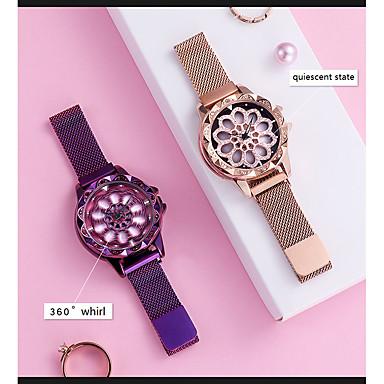 levne Dámské-Dámské Luxusní hodinky Křemenný Luxus Květina Modrá Fialová Růžové zlato Nerez japonština Křemenný Vodní modrá Fialová Růžové zlato Nový design Odolný vůči nárazu 30 m 1 ks Analogové Jeden rok
