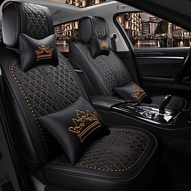 levne Doplňky do interiéru-5 sedadel se dvěma polštáři a dvěma pasovými opěrkami v průběhu ročního období univerzální potah sedadla / pu kůže / kompatibilita airbagů / nastavitelné a odnímatelné