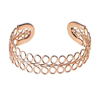 voordelige Dames Sieraden-Dames Cuff armbanden Eenvoudig Uniek ontwerp Klassiek Europees Legering Armband sieraden Zilver / Goud Rose / Lichtbruin Voor Dagelijks Formeel Festival