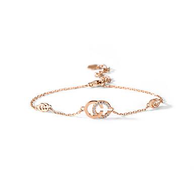 povoljno Modne narukvice-Žene Bijela Kubični Zirconia Silver Bracelets Narukvica Klasičan Stablo života Mjesečeva faza dolara Jednostavan Korejski Moda Slatka Style Elegantno S925 Sterling Silver Narukvica Nakit Rose Gold Za