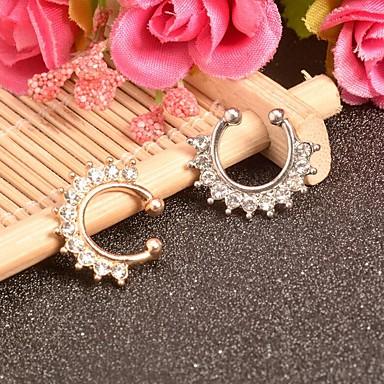 levne Dámské šperky-Dámské Tělové ozdoby 1.6 cm Nose Ring / Nose Stud / Piercing nosu Zlatá / Stříbrná Půlkruh Jednoduchý / Módní Slitina Kostýmní šperky Pro Rande / Klub 8.0*8.0*0.2 cm Letní