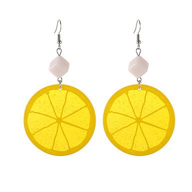 voordelige Dames Sieraden-Dames Druppel oorbellen Fruit Tropisch modieus Modieus oorbellen Sieraden Oranje Voor Dagelijks Uitgaan 1 paar