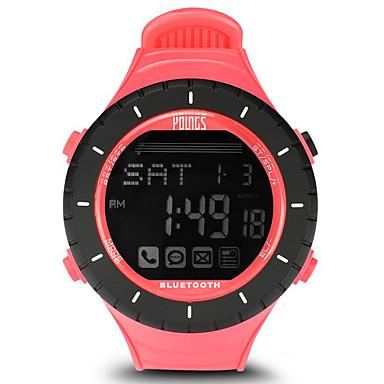 levne Dámské-Dámské Sportovní hodinky Outdoor Módní Černá Pryž japonština Digitální Černá / stříbrná Voděodolné Smart Bluetooth 100 m 1 sada Digitální Jeden rok Životnost baterie / LCD / Panasonic CR2032