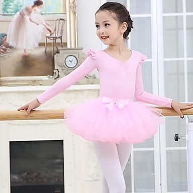 olcso Táncruha és tánccipő-Gyermek táncruhák Balett Szoknyák Fodros Lány Edzés Teljesítmény Hosszú ujj Háló Spandex