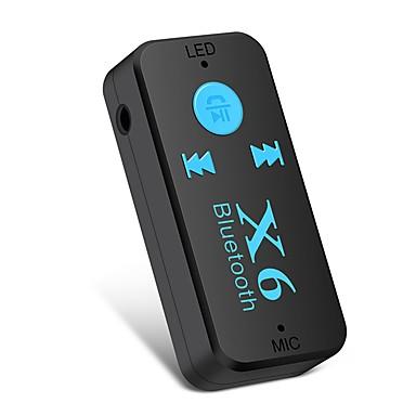 levne Auto Elektronika-ziqiao x6 adaptér bluetooth přijímač auto auto bluetooth aux kit podpora tf karty a2dp audio stereo bluetooth handfree přijímač