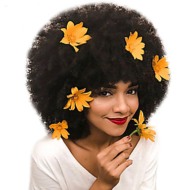 cheap Wigs & Hair Pieces-Dolago Mongolian Afro Kinky Curly Full Lace Human Hair Wigs for Black Women 130% Density Short Bob Wigs