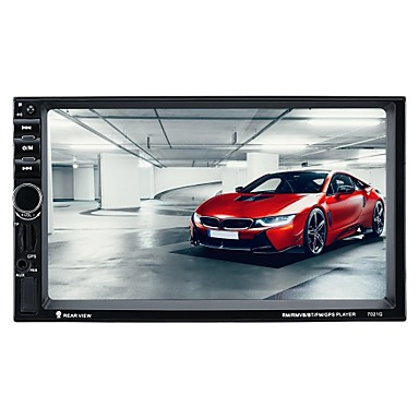 billige Bil Elektronikk-7021G 7 tommers 2 Din Symbian Bil multimediaspiller / Bil GPS Navigator Pekeskjerm / GPS / Innebygget Bluetooth til VGA Brukerstøtte RM / RMVB / mp4 mp3 / OGG jpeg / Fjernkontroll / TF-kort