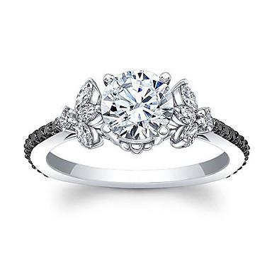 billige Motering-Dame Band Ring Micro Pave Ring Kubisk Zirkonium 1pc Hvit Kobber Geometrisk Form Stilfull Europeisk Romantikk Bryllup Gave Smykker Klassisk Kul