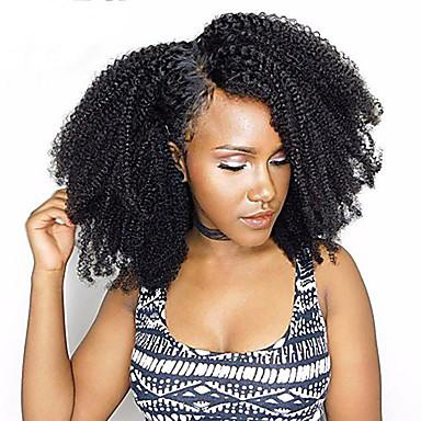 povoljno Ekstenzije za kosu-3 paketa Brazilska kosa afro Afro Kinky Remy kosa Ljudska kosa tkati 10inch-22inch Natural Isprepliće ljudske kose Odor Free Nježno Rasprodaja Proširenja ljudske kose / neprerađenih / 10A