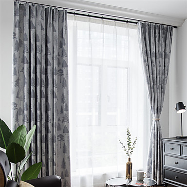 [$64.79] Contemporary Blackout One Panel Curtain Living Room Curtains