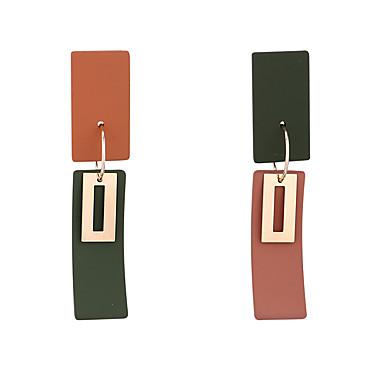 povoljno Modne naušnice-Žene Viseće naušnice Dvobojna pomodan Korejski Moda Moderna Pozlaćeni Naušnice Jewelry Zelen / Plava / Lila-roza Za Dnevno Izlasci Ured i karijera 1 par