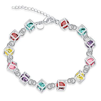 Kedje & Länk Armband Fest Mässing Armband Smycken Regnbåge Till
