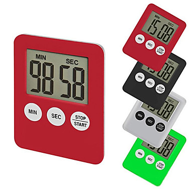 cheap Kitchen Utensils & Gadgets-Kitchen Timers Minute Second Count Up Count Down Fashion Simple Super Thin LCD Digital Screen Kitchen Timer Square Cooking Timer