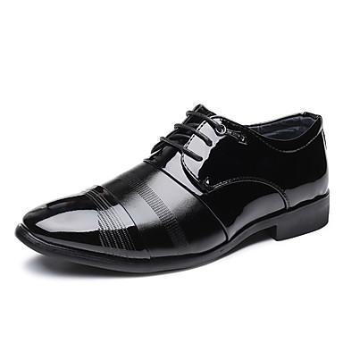 Homens Sapatos formais Microfibra Primavera Verão Negócio Oxfords Use prova Preto