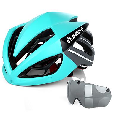 9dcfc6160c INBIKE Adulto Casco de ciclismo con gafas 19 Ventoleras Resistente a Golpes  Moldeado integral EPS ordenador personal Deportes Bicicleta de Pista  Bicicleta ...