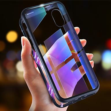 povoljno iPhone maske-Θήκη Za Apple iPhone XS / iPhone XR / iPhone XS Max Ultra tanko / Prozirno / S magnetom Korice Jednobojni Tvrdo Kaljeno staklo / Metal