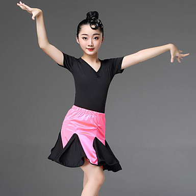 fd2f9c3f7294 Latin Dance / Kids' Dancewear Outfits Girls' Training / Performance Spandex  Lace / Cascading Ruffles Short Sleeve Skirts / Leotard / Onesie 7210739  2019 – ...