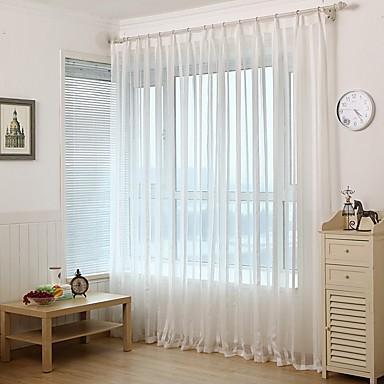 Country กึ่งเชียร์ หนึ่งช่อง Sheer Study Room / Office   Curtains / วิธีลงลวดลายลงในเนื้อผ้า