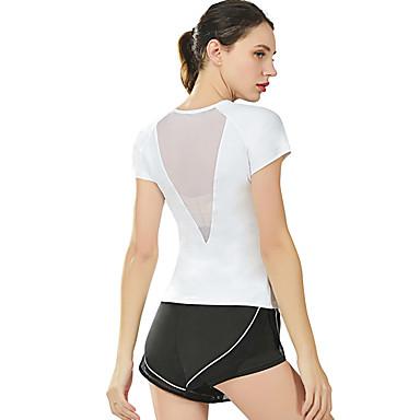 ชุดทำงาน เสื้อ / Yoga สำหรับผู้หญิง การฝึกอบรม / Performance ไนลอน / Elastane ข้อต่อ แขนสั้น Top