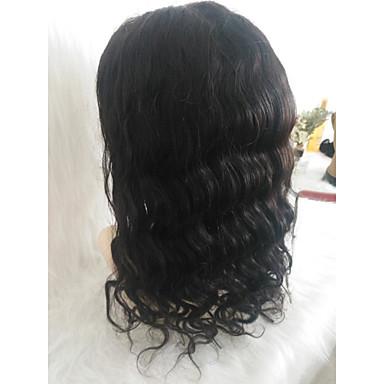 วิกผมจริง มีลูกไม้ด้านหน้า วิก ตอนกลาง สไตล์ ผมบราซิล คลื่นหลัก ดำ วิก 150% Hair Density ปาร์ตี้ คลาสสิก ผู้หญิง สำหรับผู้หญิง ขนาดกลาง อื่นๆ Clytie