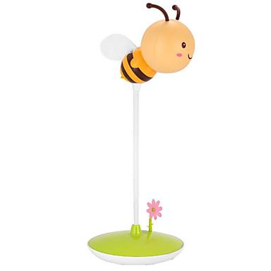 ความแปลกใหม่ที่น่ารักนำผึ้งโคมไฟกลางคืน usb ชาร์จสัมผัส dimmable สำหรับเด็ก