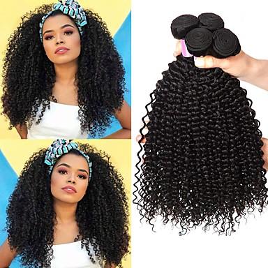 povoljno Ekstenzije od ljudske kose-6 paketića Brazilska kosa Kinky Curly Remy kosa Ljudske kose plete Bundle kose Jedan Pack Solution 8-28inch Prirodna boja Isprepliće ljudske kose novorođenče Waterfall Sladak Proširenja ljudske kose