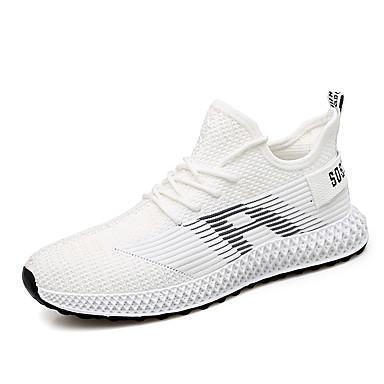 Homens Sapatos Confortáveis Com Transparência Primavera Verão / Outono & inverno Esportivo / Casual Tênis Corrida / Caminhada Preto / Branco / Bege / Atlético
