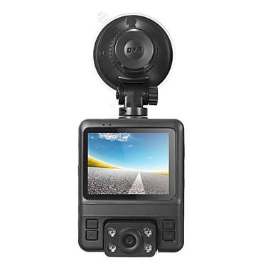 levne Auto Elektronika-GS65H Dvojitá čočka / s zadní kamerou Auto DVR 150stupňů Široký úhel 2.4 inch LCD Dash Cam s GPS / G-Sensor / Záznam cyklu smyčky Záznamník vozu