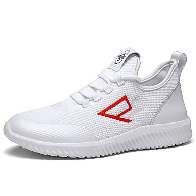 สำหรับผู้ชาย รองเท้าสบาย ๆ Tissage Volant ฤดูร้อนฤดูใบไม้ผลิ Sporty / ไม่เป็นทางการ รองเท้าผ้าใบ สำหรับวิ่ง / วสำหรับเดิน ระบายอากาศ สีดำ / ขาว / กลางแจ้ง / Light Soles