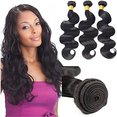 povoljno Ekstenzije od ljudske kose-6 paketića Indijska kosa Tijelo Wave Remy kosa Ljudske kose plete Bundle kose Jedan Pack Solution 8-28inch Prirodna boja Isprepliće ljudske kose novorođenče Sladak Mini Proširenja ljudske kose