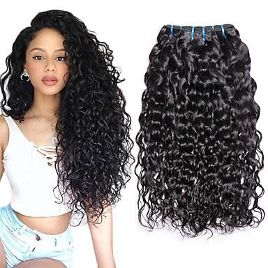 povoljno Ekstenzije od ljudske kose-3 paketa Brazilska kosa Water Wave Remy kosa Ljudske kose plete Produžetak Ekstenzije od ljudske kose 8-28 inch Prirodna boja Isprepliće ljudske kose Klasični Jednostavan dressing Najbolja kvaliteta