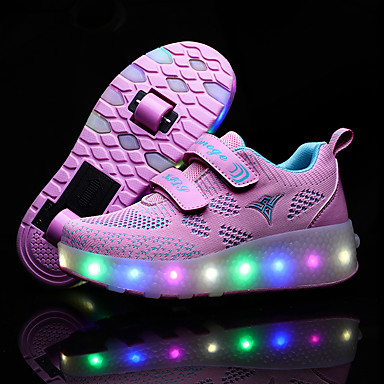 cheap Kids' LED Shoes-Boys' / Girls' LED Shoes / USB Charging Synthetics Sneakers Little Kids(4-7ys) / Big Kids(7years +) Luminous Pink / Blue Spring / Fall