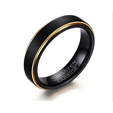 levne Pánské šperky-Pánské Prsten 1ks Černá Volframová ocel Kulatý stylové Dar Festival Šperky Klasika Radost Cool