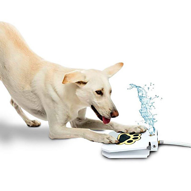 1 L สุนัข การให้อาหาร และ ปริมาณน้ำที่มีอยู่ สัตว์เลี้ยง ชามและการให้อาหาร ขาว