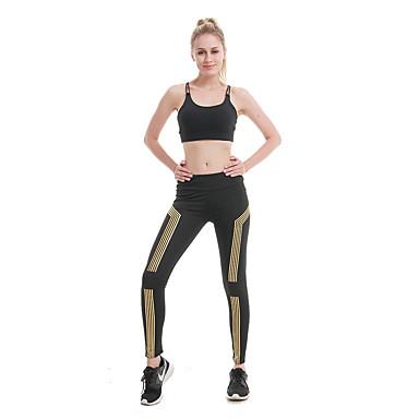 สำหรับผู้หญิง สูงกว่าปกติ กางเกงโยคะ สลับ Elastane วิ่ง การออกกำลังกาย ยิมออกกำลังกาย ถุงน่องการขี่จักรยาน ชุดทำงาน ระบายอากาศ Butt Lift Tummy Control Power Flex ความยืดหยุ่นสูง สกินนี่