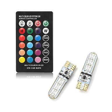 preiswerte LED Birnen-2 stücke t10 led auto dome leselicht autos keil lampe rgb led birne mit fernbedienung