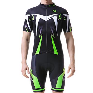 billige Motorsykkel & ATV tilbehør-x-tiger ny kortermet dress sykkeltrøye, sommertrikkende pustende menn som rir sportsskjorte