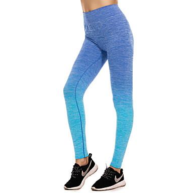 ชุดทำงาน ด้านล่าง / Yoga สำหรับผู้หญิง การฝึกอบรม / Performance ไนลอน / ยางยืด / Elastane ข้อต่อ ธรรมชาติ กางเกง
