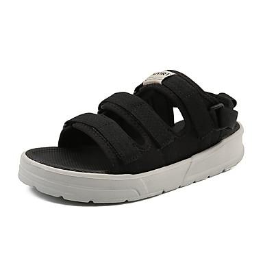 สำหรับผู้ชาย รองเท้าสบาย ๆ ตารางไขว้ ฤดูร้อน รองเท้าแตะ ระบายอากาศ สีดำ / สีเทา / กลางแจ้ง