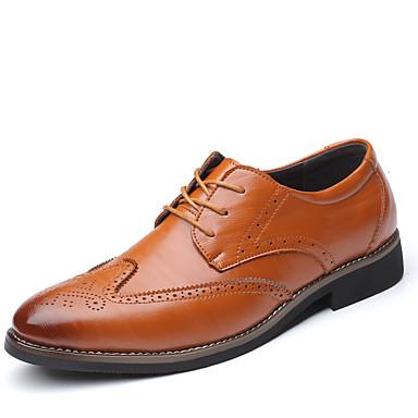 สำหรับผู้ชาย รองเท้าอย่างเป็นทางการ Synthetics ฤดูใบไม้ผลิ / ตก ไม่เป็นทางการ / อังกฤษ รองเท้า Oxfords ไม่ลื่นไถล สีดำ / สีน้ำตาล / ฟ้า / รองเท้าสบาย ๆ