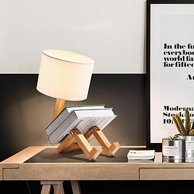 91 27 Modern Contemporary Novelty Adjustable Lovely Table Lamp For Living Room Bedroom Wood Bamboo 110 120v 220 240v