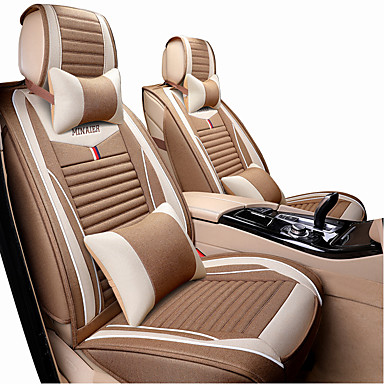 Car Seat Covers ชุดเบาะรองศีรษะและเอว สีม่วง / กาแฟ / สีดำ / สีแดง ใยสังเคราะห์ / ผ้าโพลีเอสเตอร์ ธุรกิจ / ธรรมดา สำหรับ Universal ทุกปี General Motors