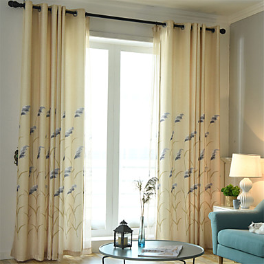 [$42.11] Contemporary Blackout One Panel Curtain Living Room Curtains