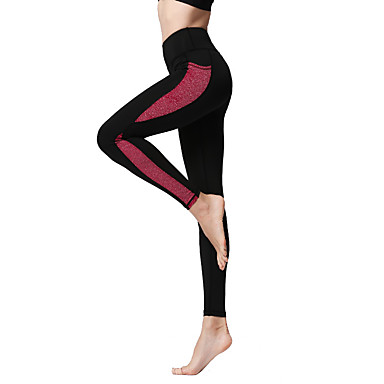 a88d13c9b344f Women's Patchwork Yoga Pants Sports Color Block Tights Leggings Bottoms  Fitness Gym Workout Activewear Moisture Wicking Soft Sweat-wicking Stretchy  7238853 ...