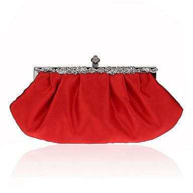 สำหรับผู้หญิง โซ่ ผ้าไหม กระเป๋าราตรี สีทึบ สีดำ / ทับทิม / สีม่วง / ฤดูใบไม้ร่วง & ฤดูหนาว