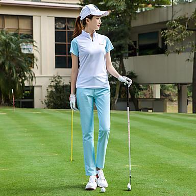 TTYGJ สำหรับผู้หญิง เสื้อยึด แขนสั้น เทนนิส Athleisure กลางแจ้ง ฤดูใบไม้ร่วง ฤดูใบไม้ผลิ ฤดูร้อน / ผสมยางยืดไมโคร / แห้งเร็ว / ระบายอากาศ