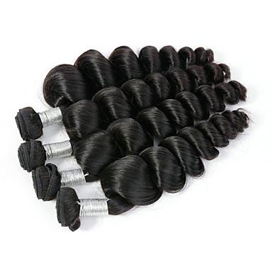 povoljno Ekstenzije od ljudske kose-4 paketića Peruanska kosa Valovita kosa Netretirana  ljudske kose Ljudske kose plete Bundle kose Ekstenzije od ljudske kose 8-28inch Prirodna boja Isprepliće ljudske kose Modni dizajn Nježno Najbolja
