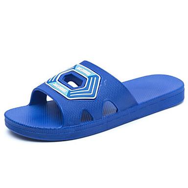 สำหรับผู้ชาย รองเท้าสบาย ๆ พีวีซี ฤดูร้อน รองเท้าแตะและรองเท้าแตะ สีเทาอ่อน / สีน้ำเงินกรมท่า / สีกากี